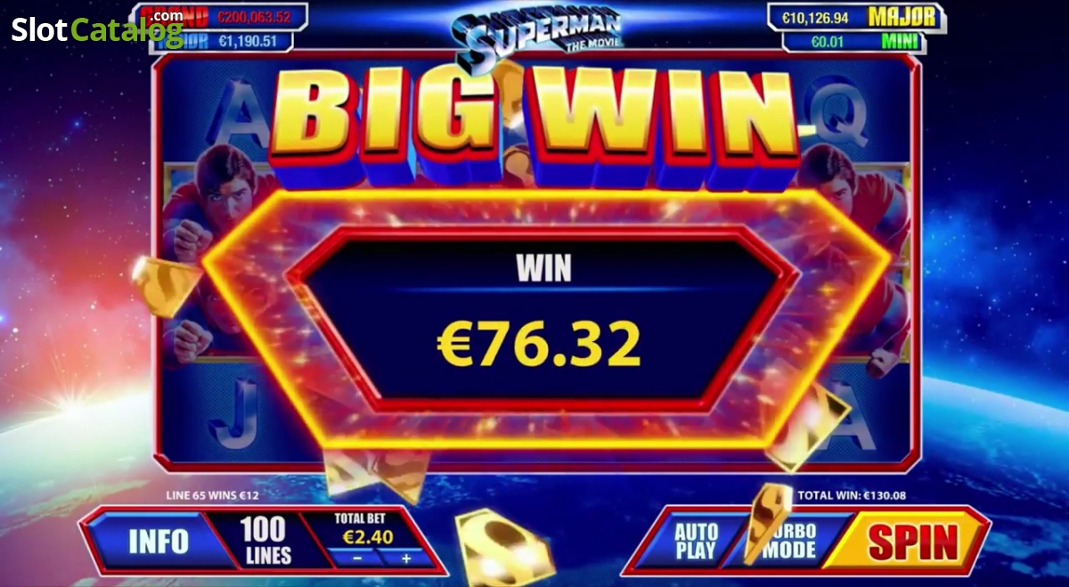 Play Superman The Movie Slot Online at Casino.com UK