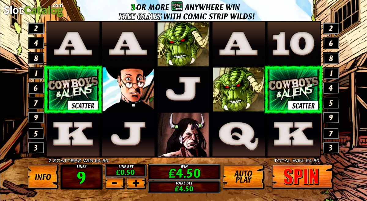 Cowboys and aliens slot machine online playtech arcade