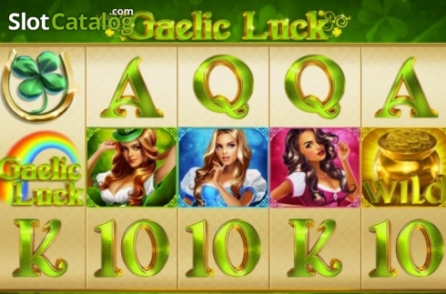 Pantalla2. Gaelic Luck (Ranura de video de Playtech)