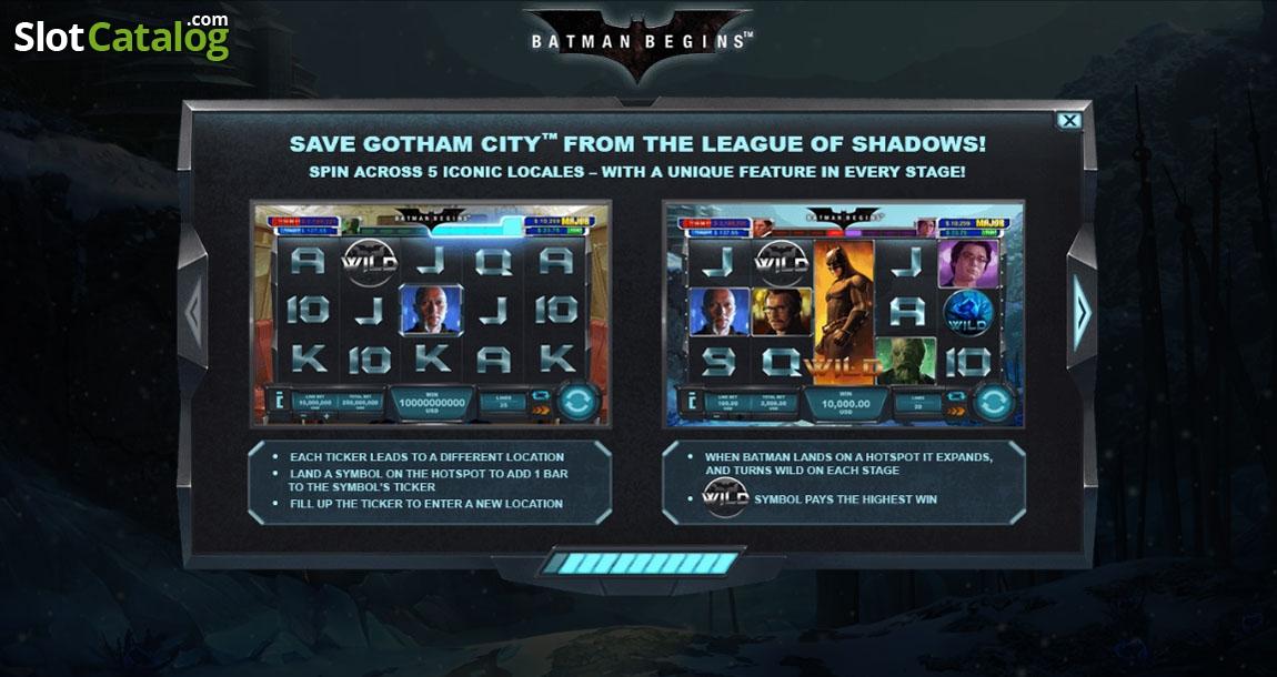 Review Of Batman Begins Video Slot From Playtech Slotcatalog