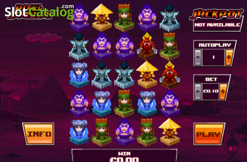 Main game. Pixel Samurai (Video Slot from Playtech)