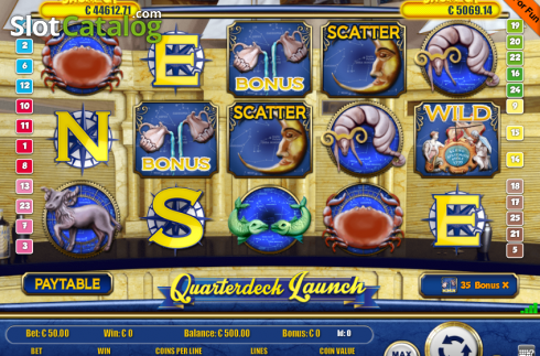 Képernyő2. Quarterdecks Launch (Video Slot tól től Portomaso Gaming)