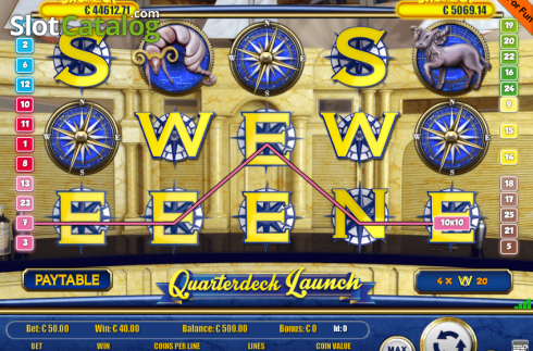 Képernyő3. Quarterdecks Launch (Video Slot tól től Portomaso Gaming)