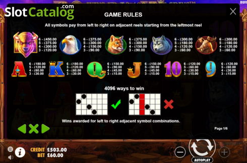 Màn10. Buffalo King (Video Slot từ Pragmatic Play)