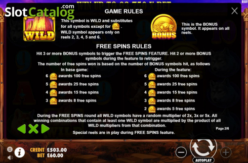 Màn11. Buffalo King (Video Slot từ Pragmatic Play)