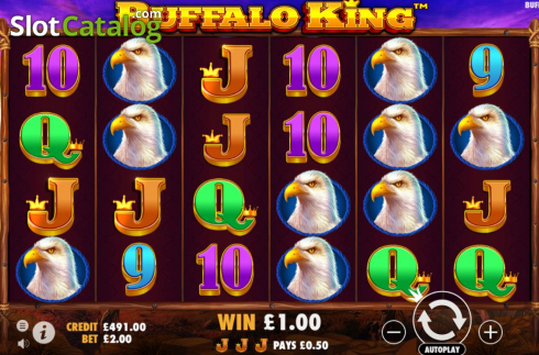 Màn5. Buffalo King (Video Slot từ Pragmatic Play)