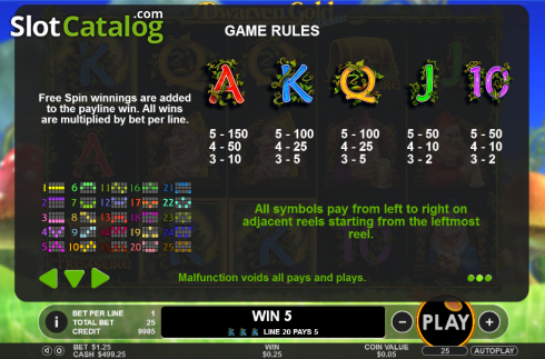 Paytable 2. Dwarven Gold Deluxe (Video Slot from Pragmatic Play)