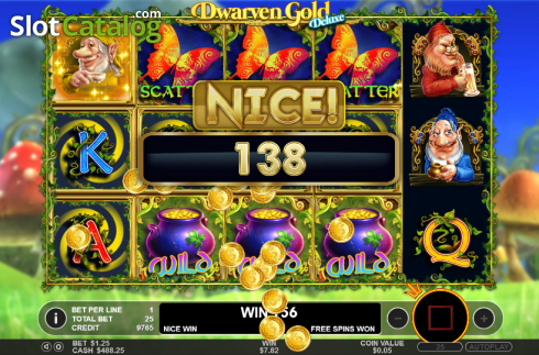 Scatter. Dwarven Gold Deluxe (Video Slot from Pragmatic Play)