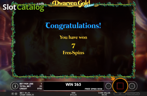 Free spins. Dwarven Gold Deluxe (Video Slot from Pragmatic Play)