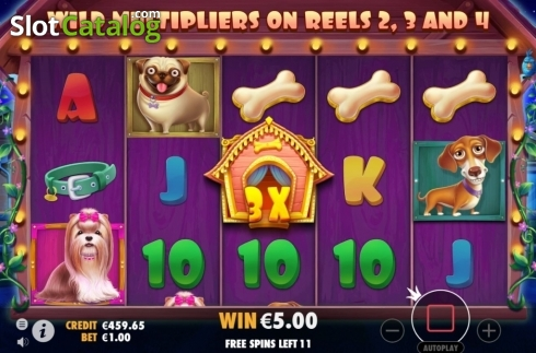 Free Spins. The Dog House (Video Slot from Pragmatic Play)