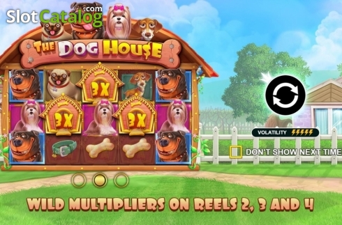 Start Screen. The Dog House (Video Slot from Pragmatic Play)