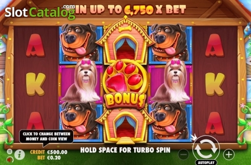 Reel Screen. The Dog House (Video Slot from Pragmatic Play)