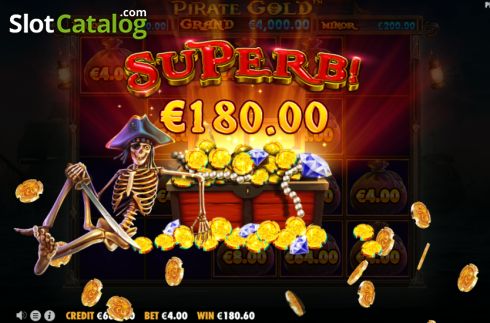 Superb Win. Pirate Gold (Video Slot from Pragmatic Play)