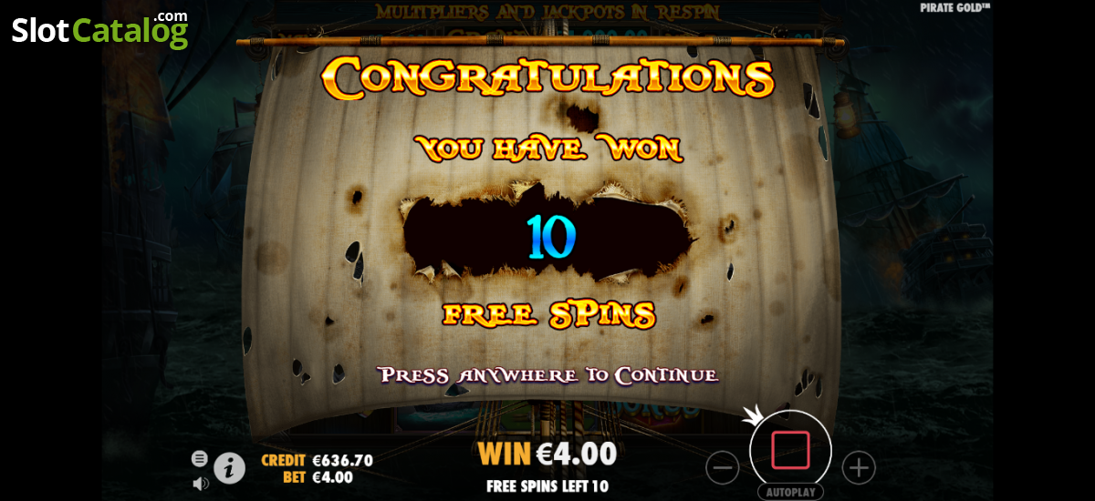 Pirate Gold Slot Review, Bonus Codes & where to play from United Kingdom