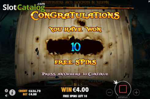 Free Spins Triggered. Pirate Gold (Video Slot from Pragmatic Play)