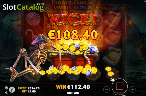 Nice Win. Pirate Gold (Video Slot from Pragmatic Play)