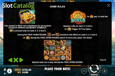Features. Pirate Gold (Video Slot from Pragmatic Play)