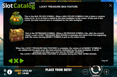 Lucky Treasure Feature. Pirate Gold (Video Slot from Pragmatic Play)