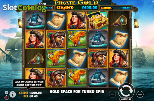 Reel Screen. Pirate Gold (Video Slot from Pragmatic Play)