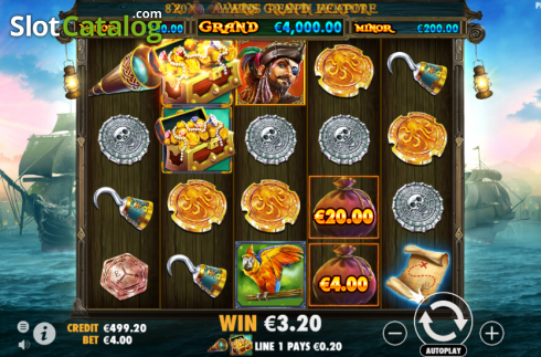Win Screen. Pirate Gold (Video Slot from Pragmatic Play)