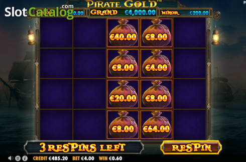 Respin 1. Pirate Gold (Video Slot from Pragmatic Play)