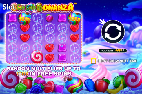 skærm2. Sweet Bonanza (Video Slot fra Pragmatic Play)