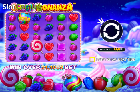 skærm3. Sweet Bonanza (Video Slot fra Pragmatic Play)