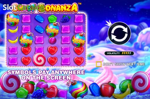 skærm4. Sweet Bonanza (Video Slot fra Pragmatic Play)