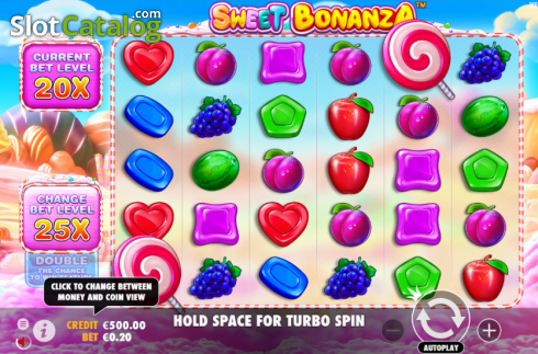 skærm5. Sweet Bonanza (Video Slot fra Pragmatic Play)