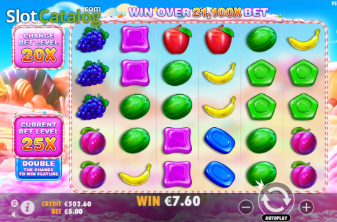 skærm6. Sweet Bonanza (Video Slot fra Pragmatic Play)