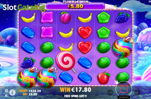 skærm8. Sweet Bonanza (Video Slot fra Pragmatic Play)