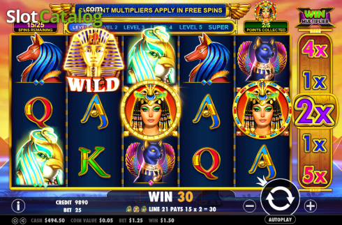 Screen 5. Queen of gold (Video Slot from Pragmatic Play)