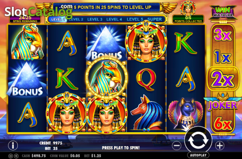 Screen 2. Queen of gold (Video Slot from Pragmatic Play)