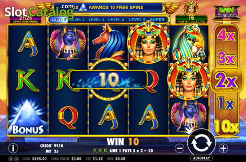 Screen 3. Queen of gold (Video Slot from Pragmatic Play)