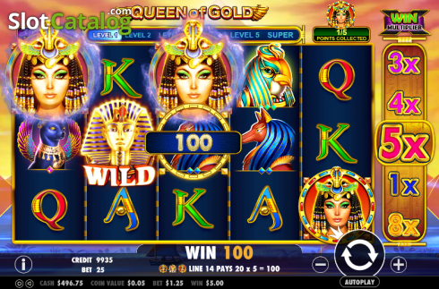 Screen 4. Queen of gold (Video Slot from Pragmatic Play)