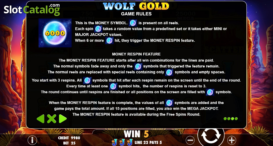 Wolf Gold Slot Review, Bonus Codes & where to play from United Kingdom
