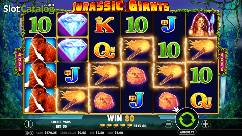 Jurassic Giants Slot - Play this Video Slot Online