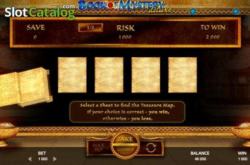Risk Game. Book of Mystery Deluxe (Video Slot from Promatic Games)