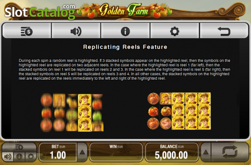 Paytable 4. Golden Farm (Video Slots from Push Gaming)