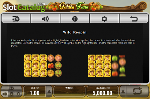 Paytable 5. Golden Farm (Video Slots from Push Gaming)