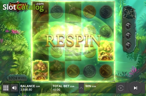 Collapsing symbols feature screen 4. Immortal Guild (Video Slot from Push Gaming)
