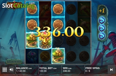 Free spins screen 2. Immortal Guild (Video Slot from Push Gaming)