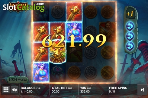 Free spins screen 3. Immortal Guild (Video Slot from Push Gaming)