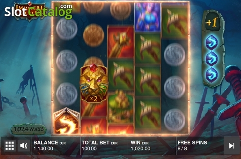 Free spins screen 4. Immortal Guild (Video Slot from Push Gaming)