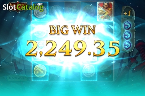 Big win screen. Immortal Guild (Video Slot from Push Gaming)