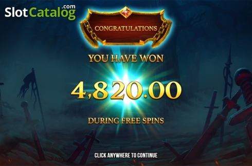 Free spins total win screen. Immortal Guild (Video Slot from Push Gaming)