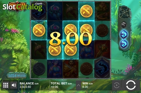 Win screen 1. Immortal Guild (Video Slot from Push Gaming)