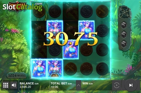 Collapsing symbols feature screen 2. Immortal Guild (Video Slot from Push Gaming)