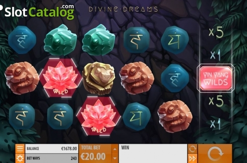 Additional Wilds. Divine Dreams (Video Slot from Quickspin)