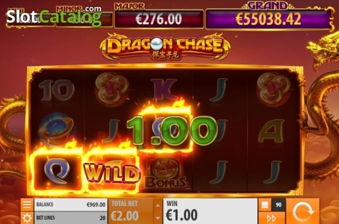 Win Screen 1. Dragon Chase (Video Slot from Quickspin)